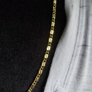 "Jewelry - 24"" 18k gold filled stainless steel necklace"